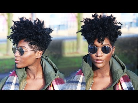 Natural Hair: DIY REFRESHING TAPERED CUT ( after 2 weeks)