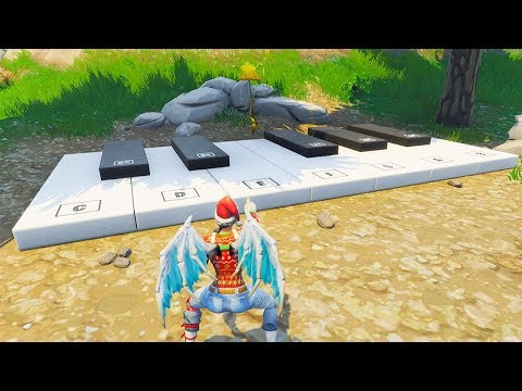 So I made the Fortnite Emote music using the In-Game Piano