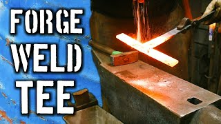 In this video, I show you how to forge weld a tee. You can use the ...