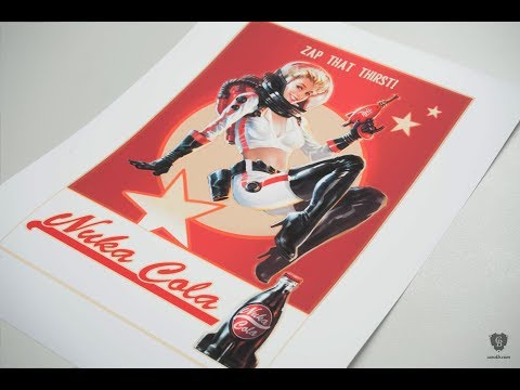 Fallout 4 fine art print collection - Making Of