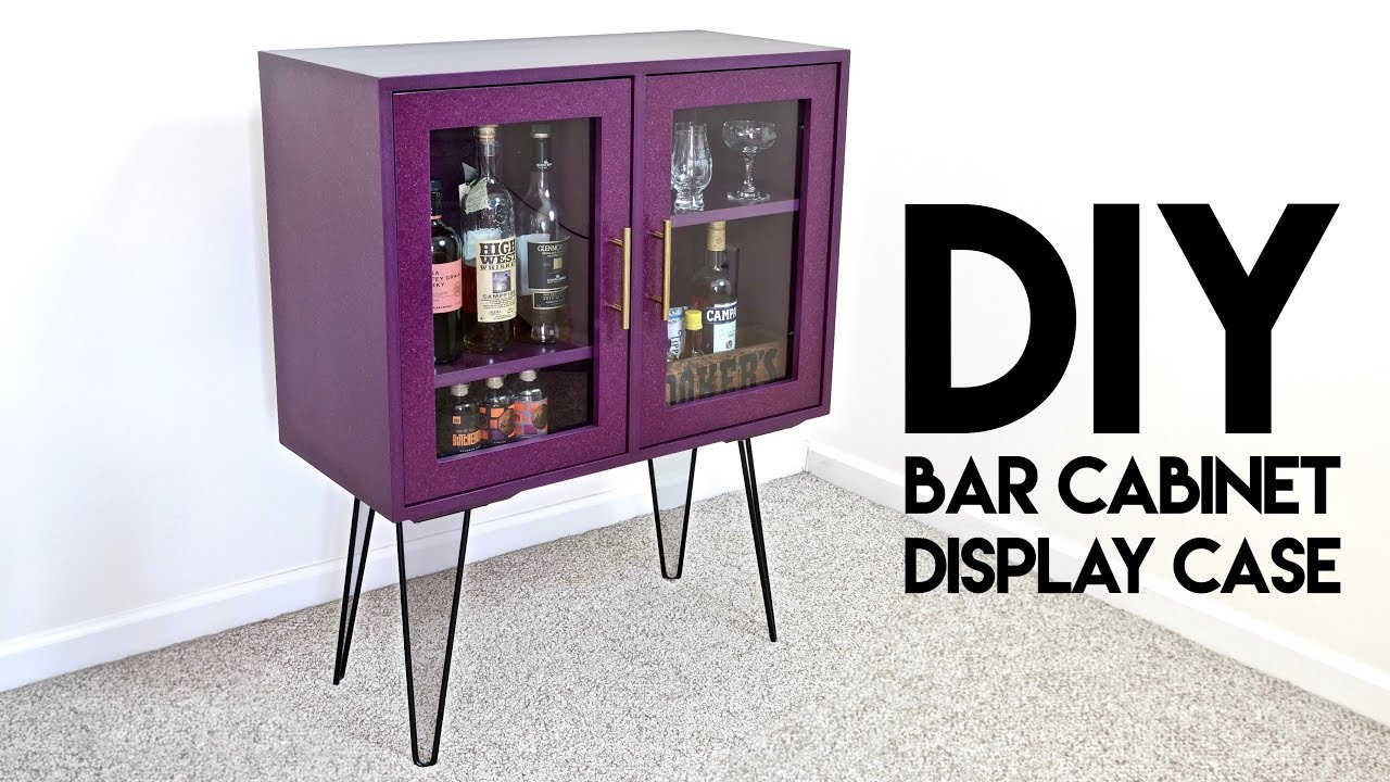 Diy Modern Bar Cabinet Display Case With Hairpin Legs How To Build Woodworking
