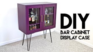 Plans: https://craftedworkshop.com/store/diy-modern-bar-cabinet-display-case-plans I
