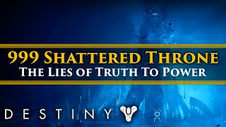 Destiny 2 Shadowkeep Lore - The Truth behind 999 Shattered Throne. Savathun, Truth To Power & Bagel.