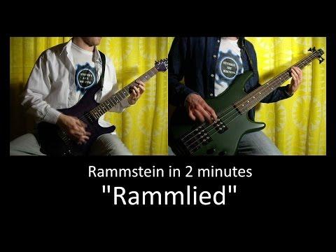 11) Rammstein - Rammlied (Guitar & Bass lesson + TAB   Cover HD)