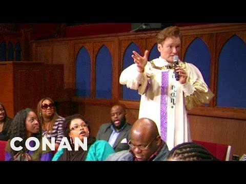 Conan Joins A Southern Baptist Choir - CONAN on TBS
