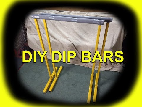 DIY Dip Bars Homemade Gym