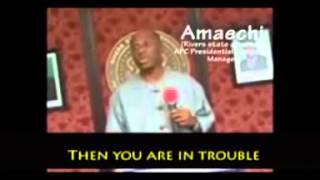 More Reasons Why You Should'nt Vote Apc (amaechi's Plan B)