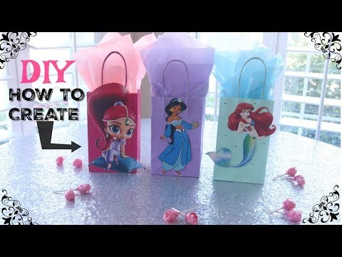 DIY Gift Favor Bags Cutouts Tutorial