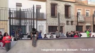 Inauguración de las pistas de Skatepar de Tocina.