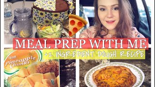 MEAL PREP WITH ME || Weight Watchers Freestyle + 2 Ingredient Dough Pizza