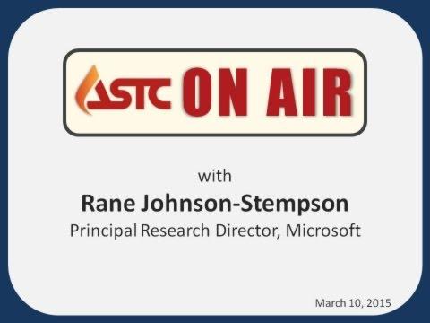 ASTC On Air with... Rane Johnson-Stempson