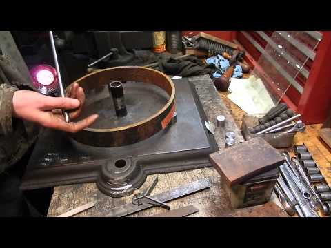 How to make a Steel Wheel for an engine cart, part one