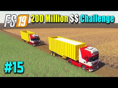 WOW!!! Selling 9 Million Cotton | 200 Million Dollar Challenge Part 15 | FS19 Nebraska Map