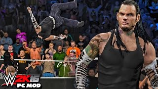 WWE 2K16 PC Mods - Jeff Hardy Character Mod ( Including Custom Minitron & Walltron )
