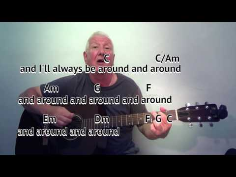 Highwayman (C) - The Highwaymen - cover - easy chords guitar lesson with on-screen chords and lyrics