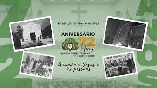 Igreja Presbiteriana de Miguel Couto, há 72 anos amando a Jesus e às pessoas.