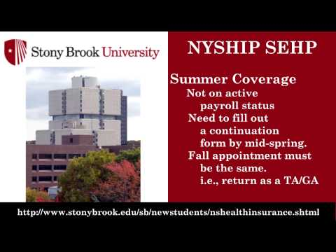New Stony Brook Graduate Student Orientation - Part 3, Health Insurance