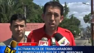 Nueva Ruta de TransCarabobo para Carlos Arvelo