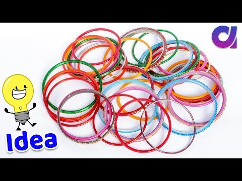 How to reuse old bangles at home | Best out of waste | Artkala 484