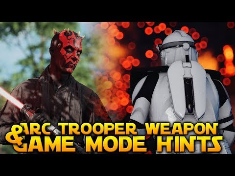 GAME MODE HINTS & NEW ARC TROOPER WEAPON - Star Wars Battlefront 2