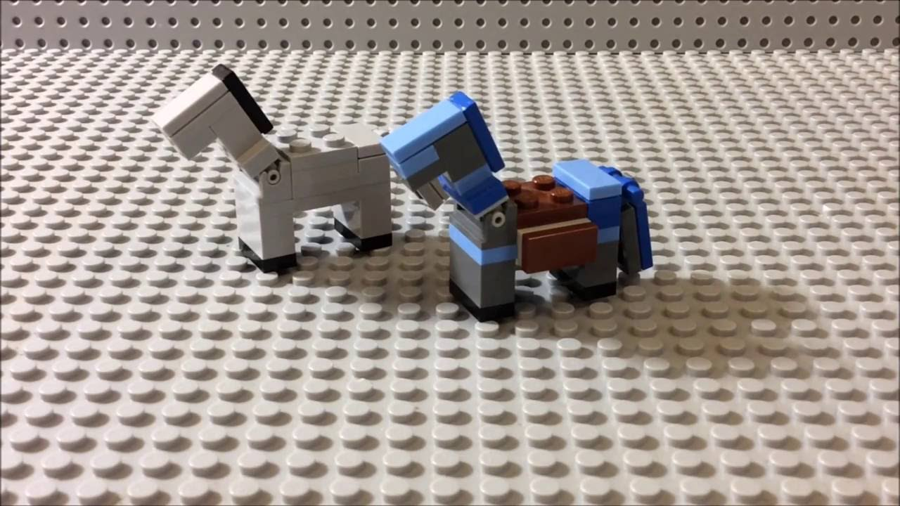 How to build lego minecraft horse horse with diamond for Cool things made out of horseshoes