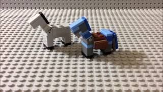 How To Build: Lego Minecraft Horse & Horse With Diamond Armor