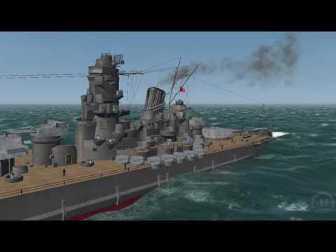 LSH3 USS Iowa Vs yamato and musashi - YouTube