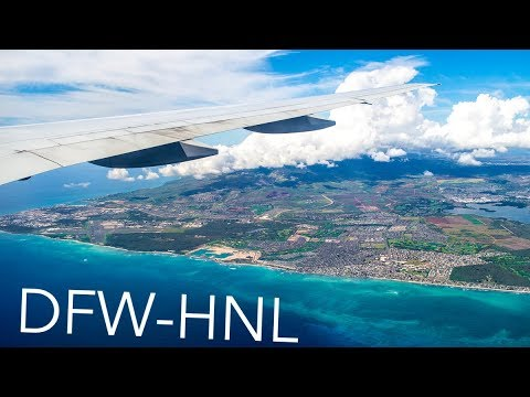 ISLAND VIEWS American Airlines DFW-Honolulu [Review] | Boeing 777-223ER (N762AN)