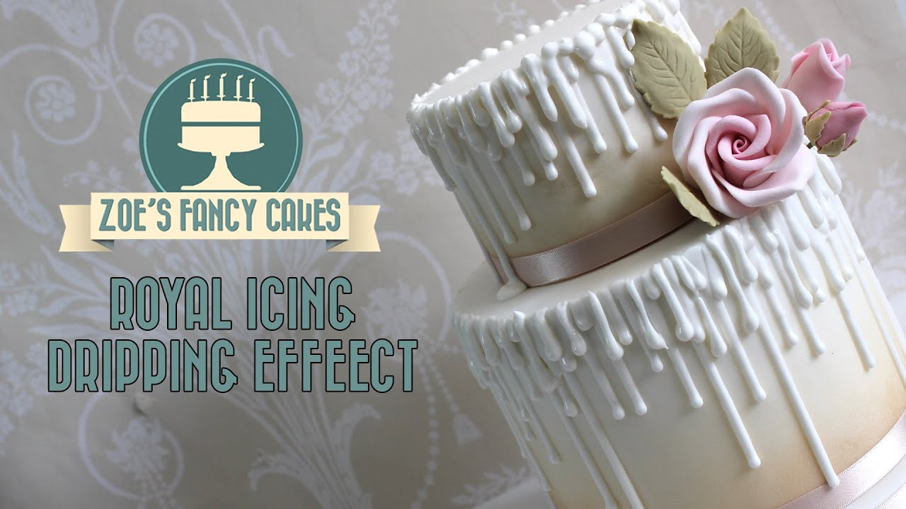 How To Make White Icing For Cake Drip Effect