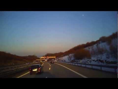 Autobahnfahrt von Chemnitz nach Dresden über A4 und A17