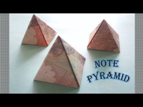 How to make note pyramid (Without cut )♥♥♥