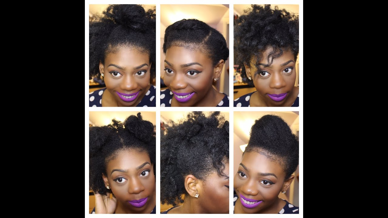 6 Simple Styles On An Old Twist Out Natural Hair YouTube