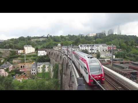 Les trains dans la ville de Luxembourg au Pfaffenthal et à Pétange (Partie 1)