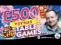Online Slots - Big wins and bonus rounds £500 vs slots and table games