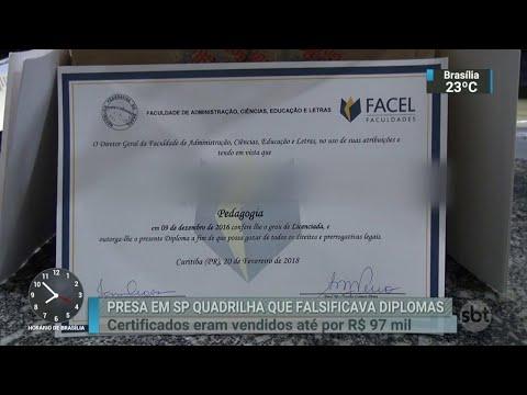 Polícia prende quadrilha que vendia diplomas falsos | SBT Brasil (29/03/18)