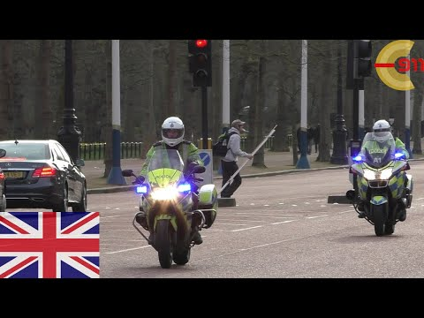 [LONDON] Police motorbikes (x2) responding on The Mall with siren and lights