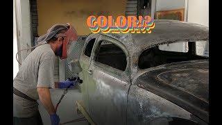Bondo Removal - ROTTEN OLD CHOP TOP 1956 VW BEETLE - 124