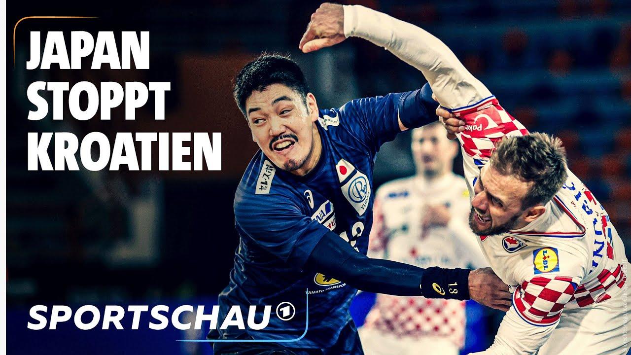 dicke uberraschung kroatien patzt gegen japan highlights handball wm sportschau