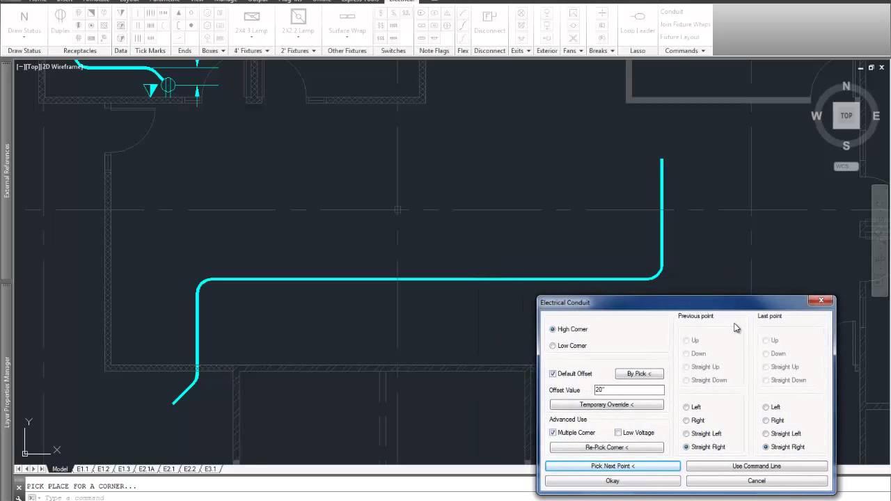 Autocad Conduit Wiring Diagram 2015 Portal 2 D Electrical Drafting Youtube Rh Com Cat 5 3 Phase Reversing Starter