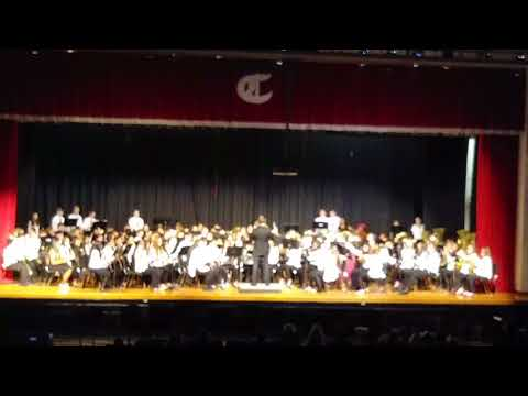 Teasley Middle School Band, Spring 2018