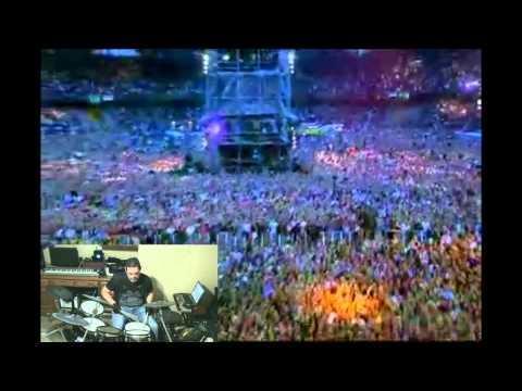Robbie Williams - Let Me Entertain You Live - Koln 2001 (Drum Cover)