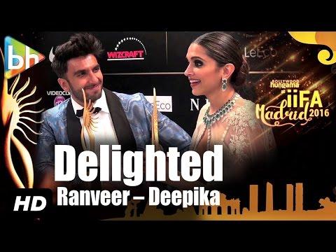 DELIGHTED Ranveer Singh | Deepika Padukone On Winning and RULING IIFA 2016