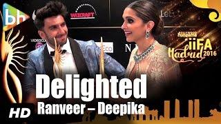 DELIGHTED Ranveer Singh   Deepika Padukone On Winning and RULING IIFA 2016
