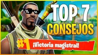 Gambar cover FORTNITE Battle Royale: TOP 7 MEJORES CONSEJOS PARA GANAR PARTIDAS   Makina