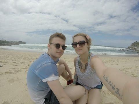 Walking from Bronte beach to Bondi beach