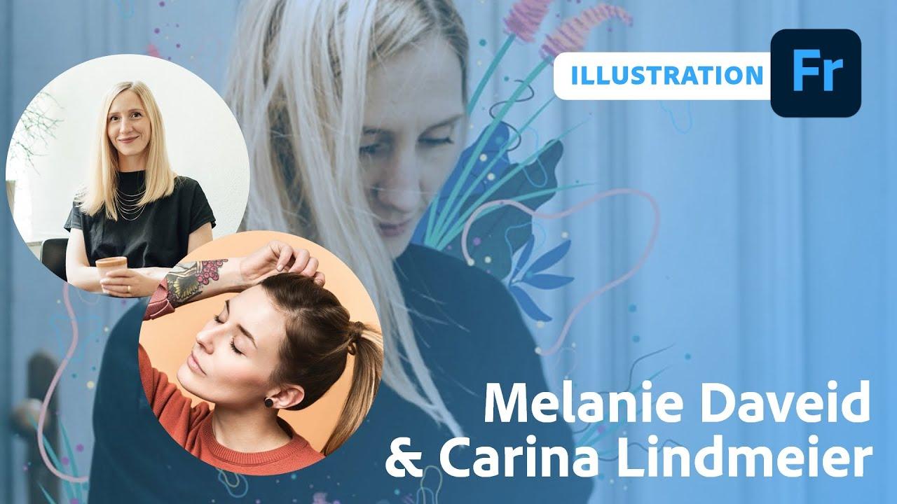 Illustration auf Fotos mit Carina Lindmeier und Melanie Daveid |Adobe Live