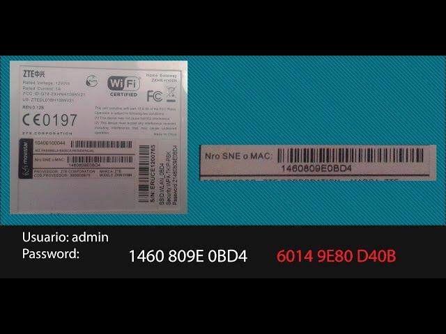 zxhn h168n v2 2 username and password