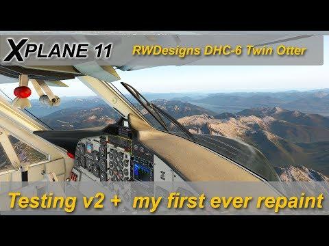 X-plane 11: RWDesigns DHC-6 Twin otter v2 + my own livery. CLYW to CYVR