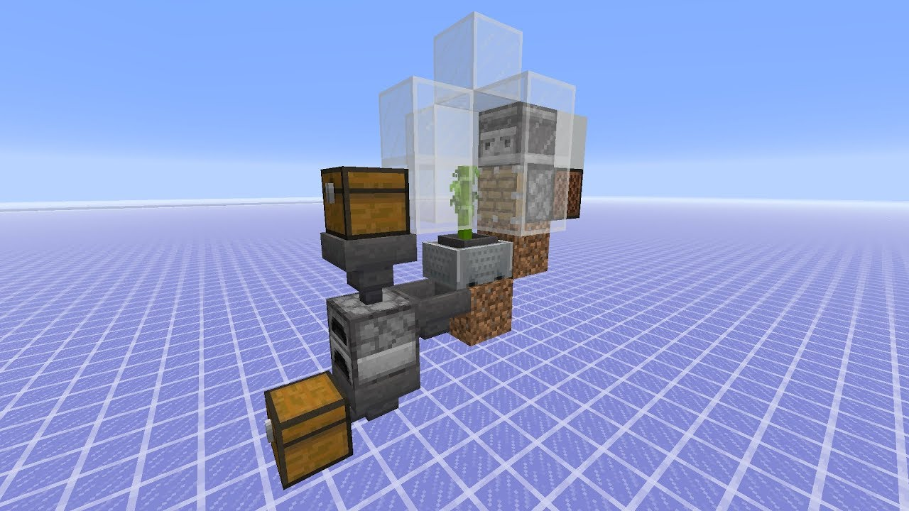 Tutorials Automatic Smelting Official Minecraft Wiki
