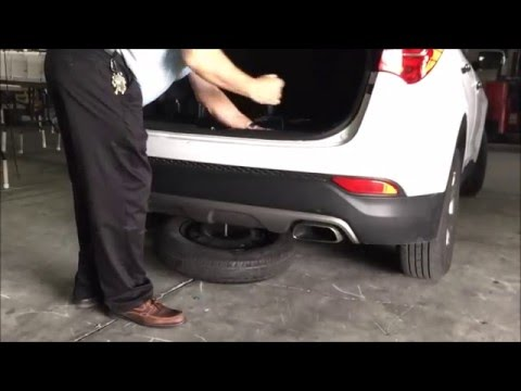 How to Remove Spare Tire: Hyundai Santa Fe
